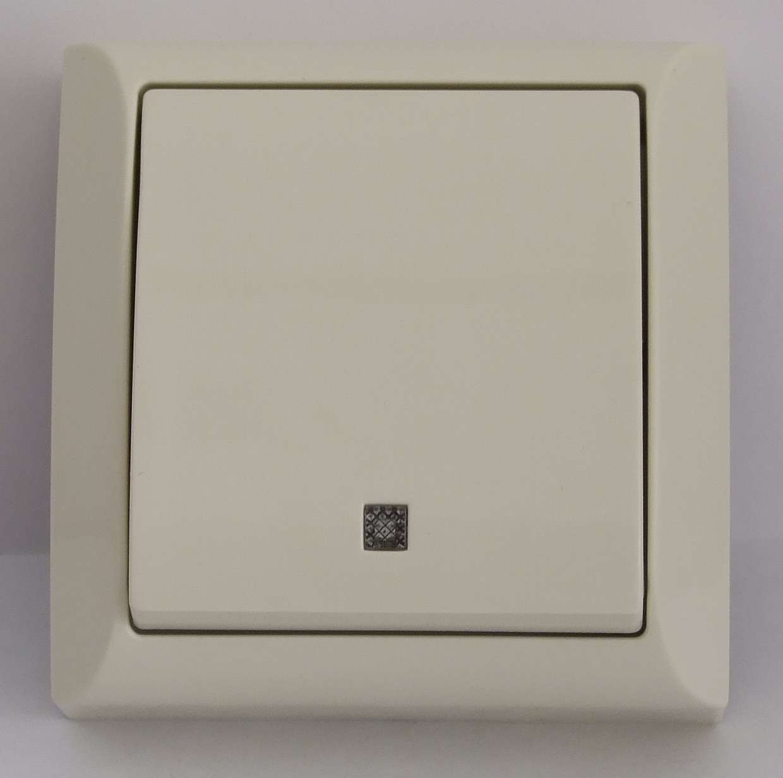 Выключатель с подсветкой кремовый LXL Terra