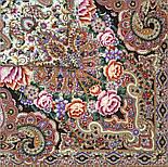 Бенефис 1769-16, павлопосадский платок шерстяной (двуниточная шерсть) с шелковой вязаной бахромой, фото 4