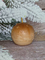 Свеча шар новогодний, ручная работа. Вес 70 г.