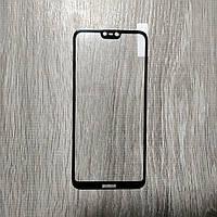 Защитное стекло 5D 6D ПОЛНЫЙ КЛЕЙ для Nokia 6.1 Plus \ X6, черное