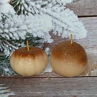 Набор свечек две мандаринки. Общий вес 160 г. Ручная работа