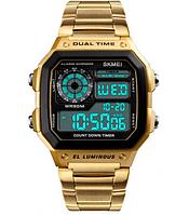 Мужские часы Skmei 1553 Gold