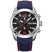 Часы Megir Silver Black Blue MG2063 (MN2063GBE-1)