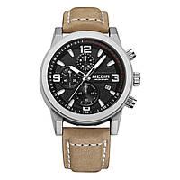 Часы Megir Silver Black Brown MG2026 (ML2026GBN-1)
