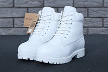 Зимові черевики Timberland White, жіночі черевики з вовняним хутром. ТОП Репліка ААА класу., фото 3
