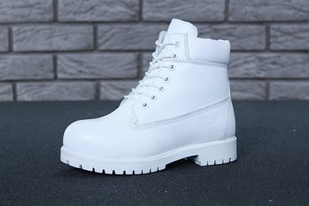 Зимові черевики Timberland White, жіночі черевики з вовняним хутром. ТОП Репліка ААА класу., фото 2