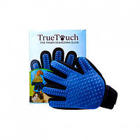 Перчатка для вычесывания шерсти Kronos True Touch Синий, КОД: 218940