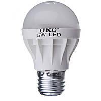 Светодиодная лампа UKC LED E27 5W Белый свет, КОД: 146479