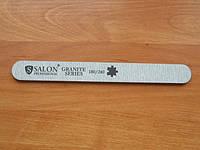 """Пилка """"Salon professional""""- серая ,прямая,180/240 грид для натуральных ногтей"""
