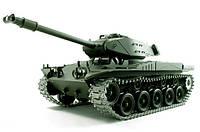Танк на радиоуправлении 1:16 Heng Long Bulldog M41A3 с пневмопушкой и дымом Зеленый (HL3839-1)