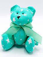 Мягкая игрушка ручной работы Мишка Тедди Зелёный в звёздочку Nikolo Valens (NV110.13)