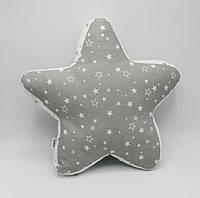 Подушка-игрушка ручной работы Звезда Nikolo Valens Серый (NV21.24)