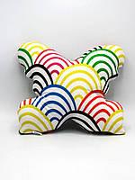 Подушка-игрушка ручной работы Бабочка Nikolo Valens Цветная радуга (NV30.44)