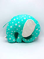 Подушка-игрушка ручной работы Слон Nikolo Valens Зеленый (NV22.13)