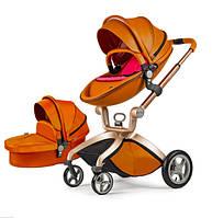 Универсальная коляска 2 в 1 Hot Mom Коричневая (hub_eaqt20217)