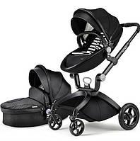 Универсальная коляска 2 в 1 Hot Mom Черная (hub_Ncav30487)