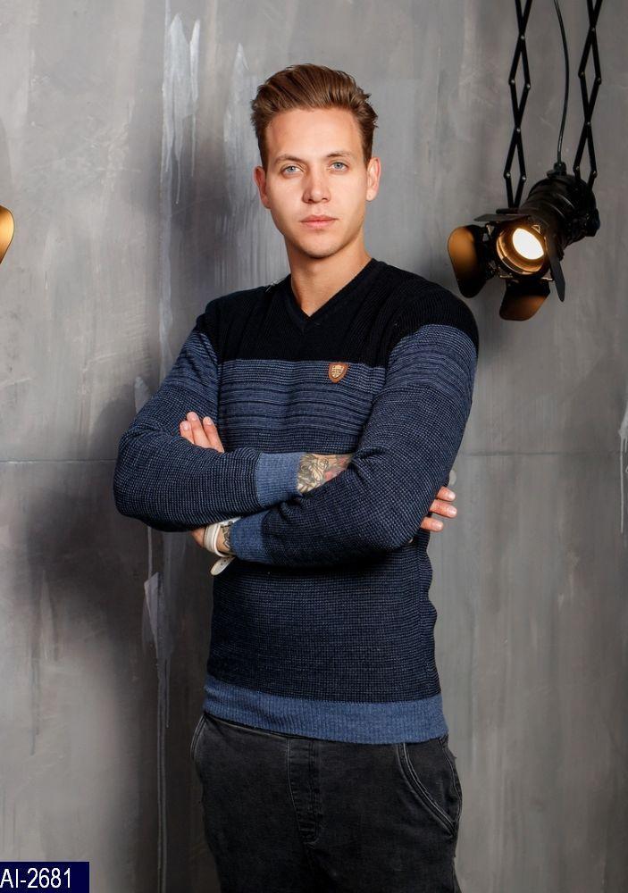 Пуловер мужской Размер: L, M, XL Турция Ткань: wool-70%. Acrylic-30% В 2х цветах : синий , бордо