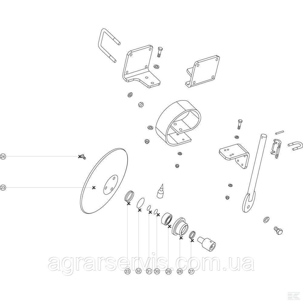 Диск бороны 460X6, 3 отв. Horsch Tiger AS, LT, MT 24251103 - фото 2