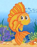 Схема для вышивки бисером Золотая рыбка РКП-5-030