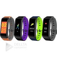 Фитнес - браслет с Bluetooth- Goral B02 разные цвета, датчик артериального давления, шагомер, силиконовый