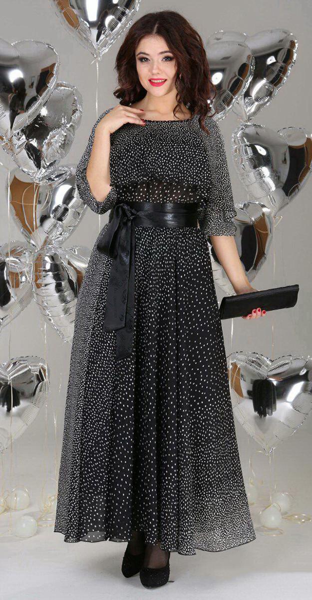 918f55e1e805921 Платье Anastasia-063 белорусский трикотаж, черный, 48 купить с ...