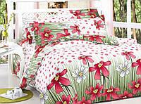 Комплект постельного белья Уютная Жизнь Двуспальный 180x215 Розовая поляна в горох V2