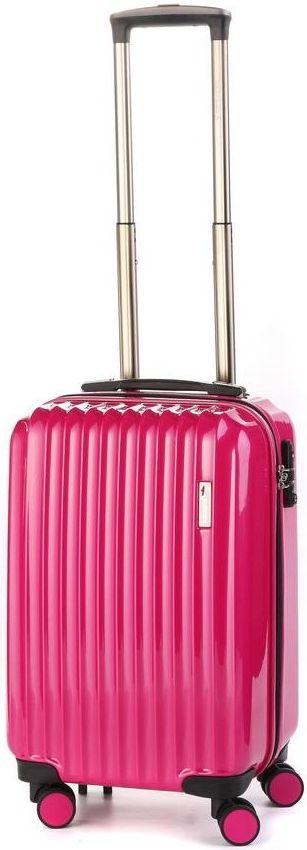 Пластиковый чемодан легкий на 4-х колесах 35 л. Sumdex (Самдекс) SWR-723CP розовый