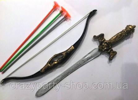 Лук и стрелы, кинжал игрушечные