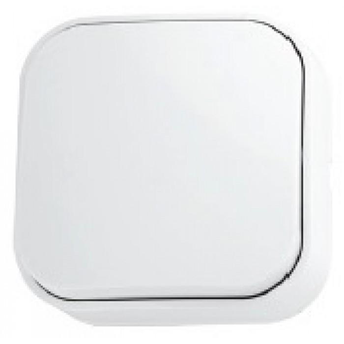 Выключатель 1-клавишный белый EVA