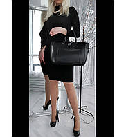 Кожаная сумка от Valentino в черном цвете (реплика) АРТ. 02005, фото 1