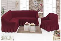 Чехол на угловой диван с креслом