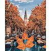 """Картины по номерам без коробки - Городской пейзаж """"Яркий Амстердам"""" 50*40см"""