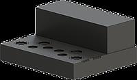 Шасси для лампового усилителя, МОДЕЛЬ MB-6P3C(S)ACU-W400H66L344, RAL9005(BLACK TEXTURED), фото 1