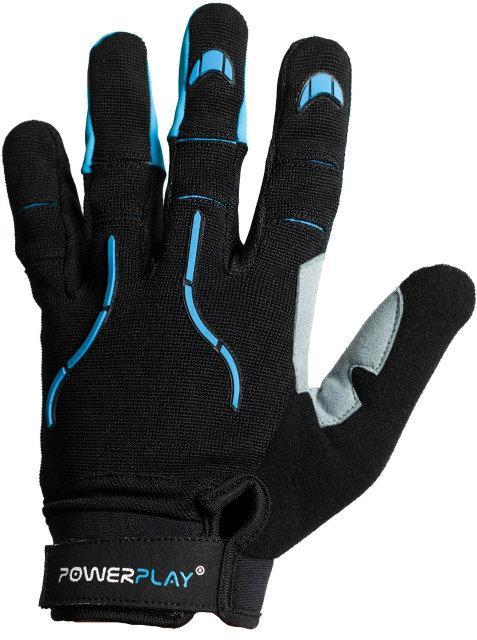 Велоперчатки PowerPlay 6662 Черно-голубые