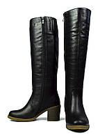 Черные зимние женские кожаные сапоги ARI ANDANO на меху ( шерсть, европейка ), фото 1