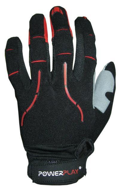 Велоперчатки PowerPlay 6662 Черно-красные