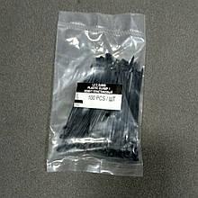 Хомут пластиковый черный 2.5 на 80мм LSA