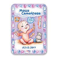 Метрика постер для новорожденных А4 формат Стрелец, КОД: 182635