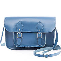 "Сумка GRACE Satchel 11"" кожаная 19х28х5 см Синий (S11.000000320)"