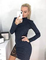 """Платье-гольф с кружевом """"Viola"""""""