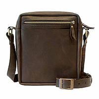 Мужская сумка-мессенджер из натуральной кожи Коричневый (as180301)