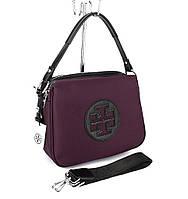 Сумка женская средняя текстильная фиолетовая Tory Burch 1624, фото 1