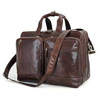 Кожаная сумка Tiding Bag 7343C Коричневый