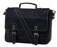 Мужской кожаный портфель TIDING BAG NM15-2566A Черный