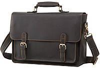 Мужской кожаный портфель TIDING BAG 7205A Коричневый