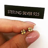 Сережки гвоздики з срібла Мої золоті прикраси циркони