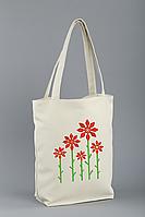 Женская сумка стандарт с вышивкой флай Цветы Белый