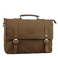 Мужской кожаный портфель TIDING BAG t0020 Коричневый