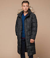 Мужская куртка пуховик удлиненная (черная)
