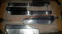 Хром накладки на внутренние пороги для Volkswagen Amarok 2010+